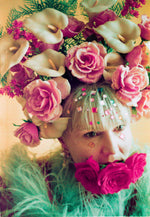 Giant Roses and Lilies Headdress / flower headpiece
