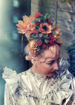 Wild Flower headdress / Autumnal / orange and Yellow