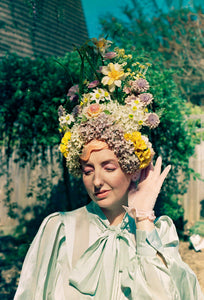 Vintage Pastel Blossom Queen Titania Crown