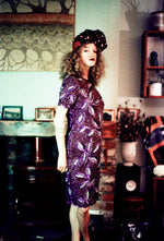 Sequin vintage purple and Silver Dress