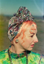 *LIMITED EDITION* Silver / Pastels Sequin Turban