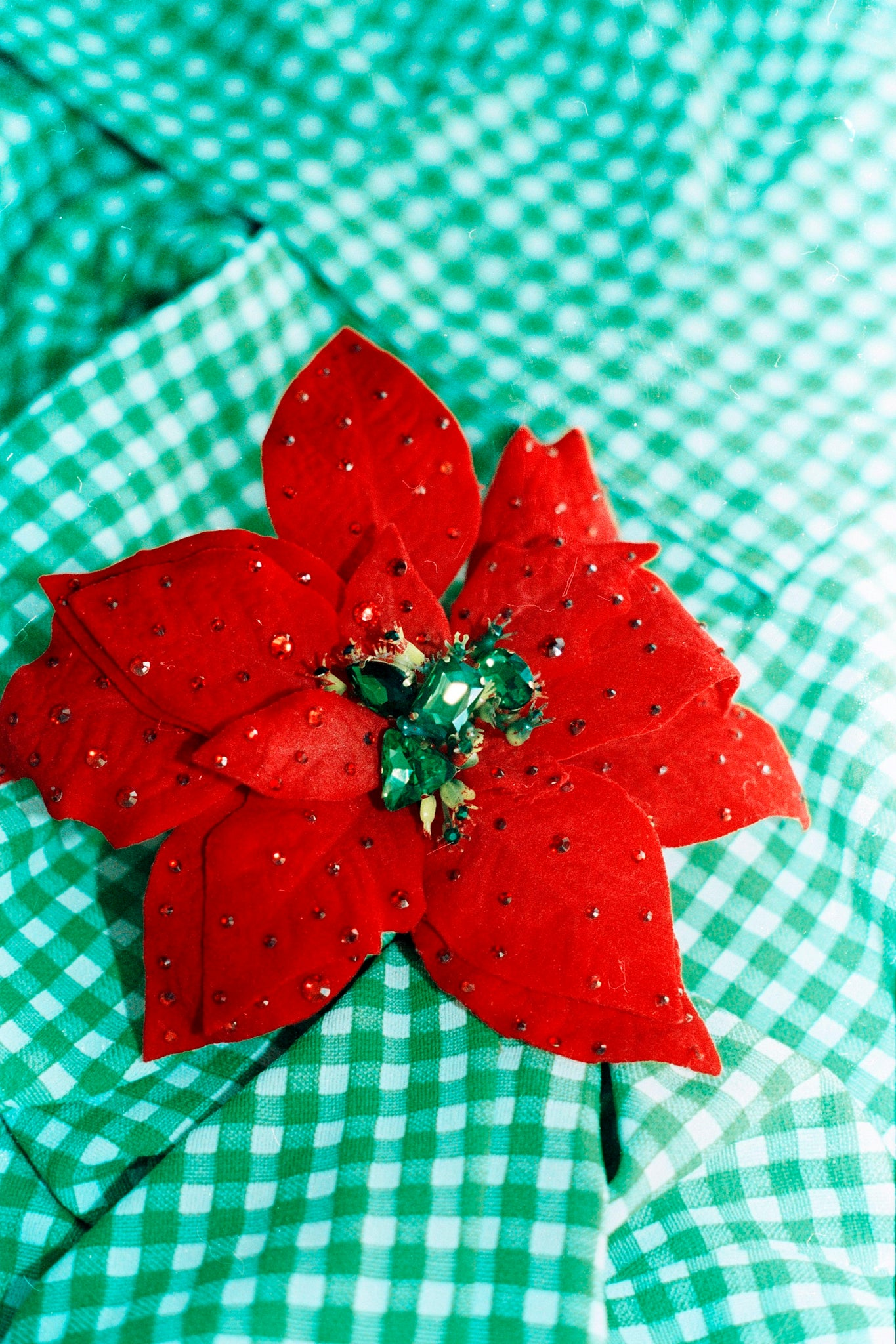 Jewelled Poinsettia Brooch *Order before 18th for Christmas post*