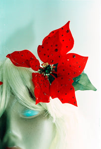 Red Jewelled Poinsettia Hair Clip *Order before 18th for Christmas post*