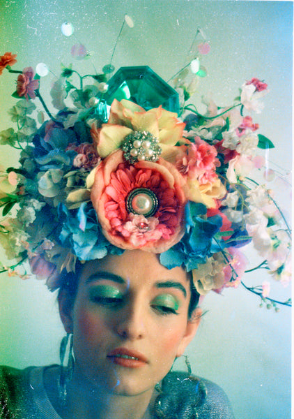 HUGE floral Headdress - Showstopper