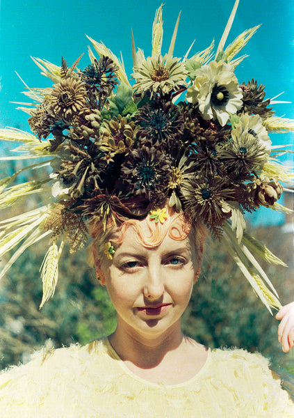 Tribal Brown wild flower Crown Burning man Festival Headdress