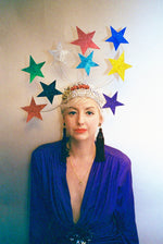 Vintage inspired rainbow star headdress