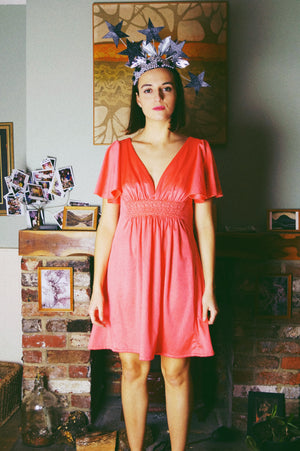 Angel Sleeve vintage 60s mini dress