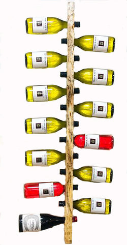 LodgePole Pine Wall Mounted Wine Rack