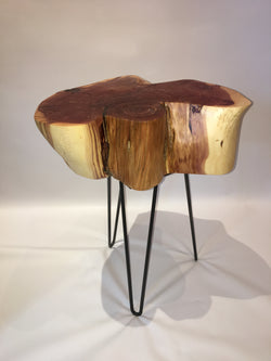 Rustic Colorado Juniper Side Table No. 058