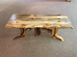 Blue Stained Lodgepole Pine Coffee Table No. 055