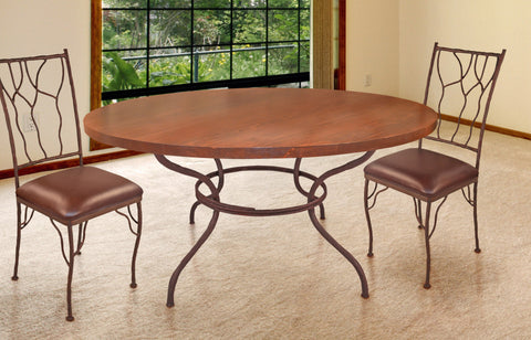 rustic iron dining table with custom top