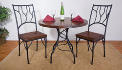 rustic custom iron bistro table