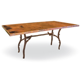 South Fork Rectangle Copper Top Dining Table