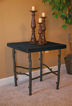 custom rustic iron branch end table