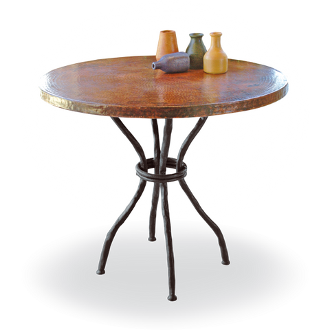 Woodland Bistro Table with Copper Top