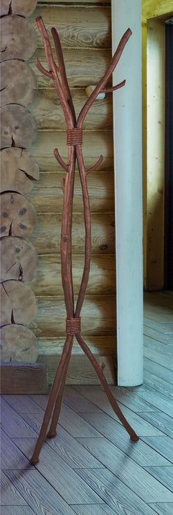 rustic custom iron branch standing coat rack