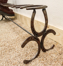 Vintage Horseshoe Boot Rack No. 082 by CrookedWood