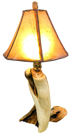 Rustic Juniper Table Lamp on Juniper Base No. 047