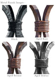 Wrought iron finish options from CrookedWood