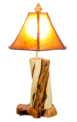 Rustic Juniper Table Lamp on Juniper Base