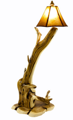 Rustic Twisted Root Juniper floor lamp