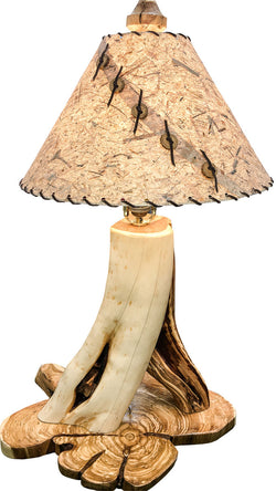 Rustic Juniper Table Lamp on Juniper Base by CrookedWood