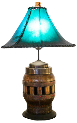 Authentic Vintage Wagon Wheel Hub Lamp