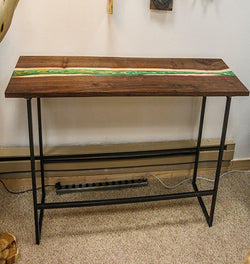 Black Walnut River Console Table No. 068