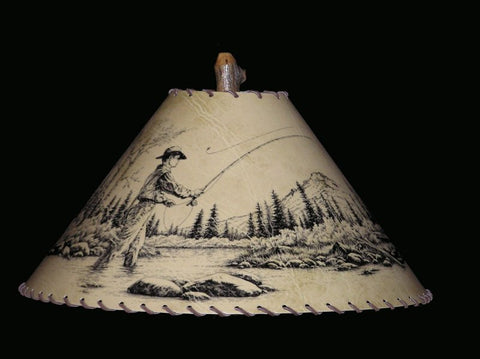 Fly Fisherman Lamp Shade - CrookedWood - TheCrookedWood