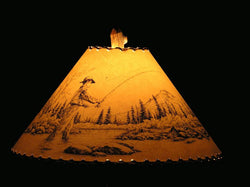 Fly Fisherman Lamp Shade