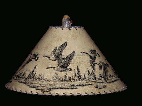 Geese Lamp Shade - CrookedWood - TheCrookedWood