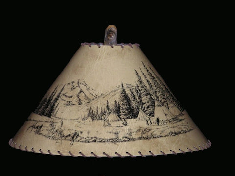 Villiage Indian Lamp Shade - CrookedWood - TheCrookedWood