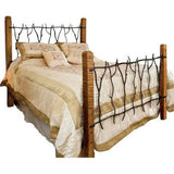 South Fork Rustic Wrought Iron and Wood Bed from CrookedWood