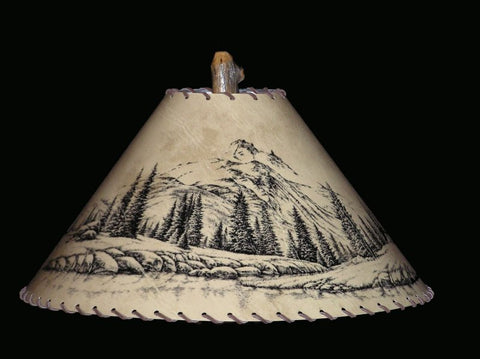 Mountain Scene Lamp Shade - CrookedWood - TheCrookedWood