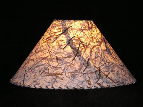 Rust Banana Leave Lamp Shade - CrookedWood - TheCrookedWood