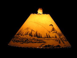 Shadow Fly Fisherman Lamp Shade