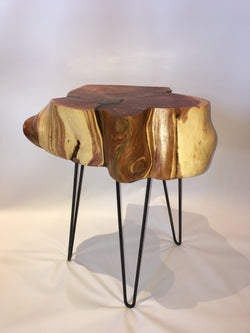 Rustic Inlayed Colorado Juniper Side Table No. 056