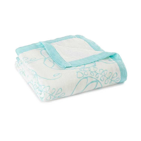 Bamboo Dream Blanket - Azure Leafy