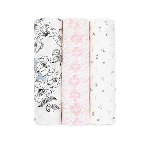 Bamboo Swaddle 3 Pack - Meadow Lark