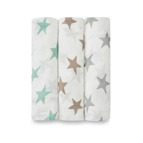 Bamboo Swaddle 3 Pack - Milky Way