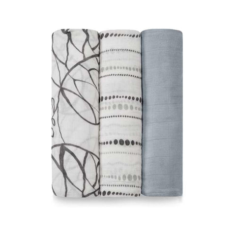 Bamboo Swaddle 3 Pack - Moonlight