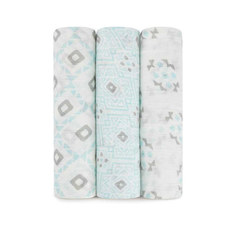 Bamboo Swaddle 3 Pack - Seychelles