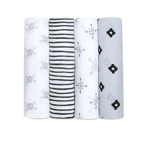 Classic Muslin Swaddle 4 Pack - Love Struck