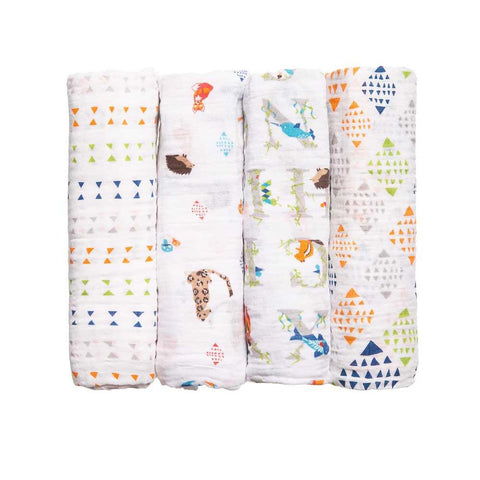 Classic Muslin Swaddle 4 Pack - Paper Tales