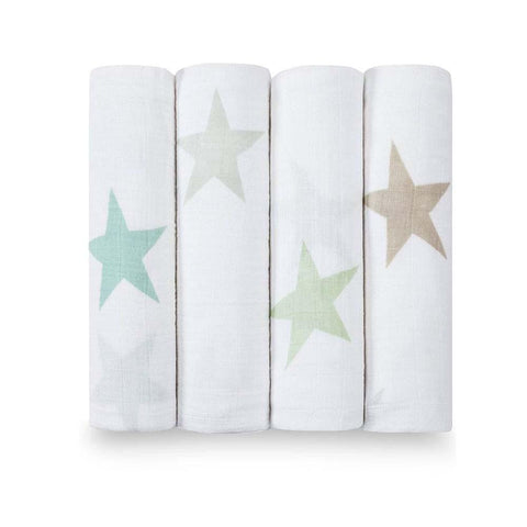 Classic Muslin Swaddle 4 Pack - Star Scout