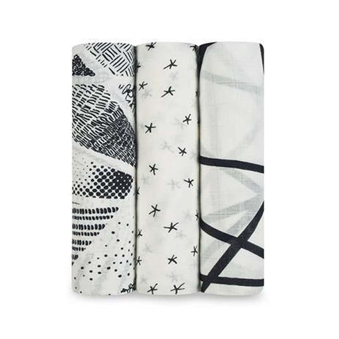 Bamboo Swaddle 3 Pack - Midnight