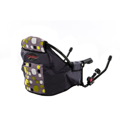 Clip-On Feeding Chair - Green & Grey Squares