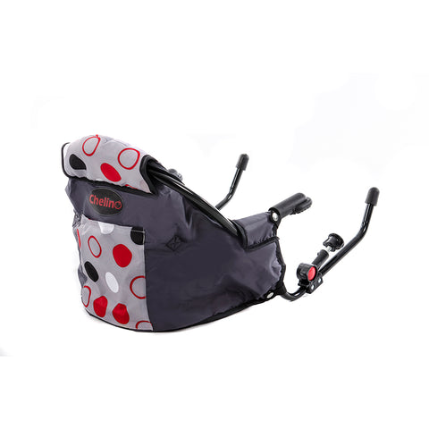 Clip-On Feeding Chair - Red & Grey Spots