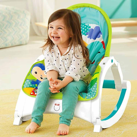Rainforest Friends Newborn to Toddler Portable Rocker