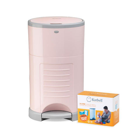 Nappy Disposal System & Refills - Pink
